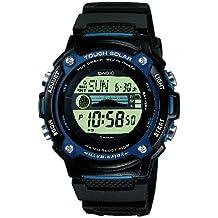 CASIO Collection W-S210H-1AVEF - Reloj de caballero de cuarzo, correa de resina color negro (con cronómetro, alarma, luz)