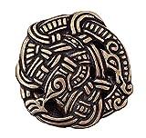 Gürtelschnalle - Midgardschlange im Urnes-Stil für Gürtel bis 3 cm Breite Silber oder Bronze LARP Mittelalter Wikinger (Bronze)
