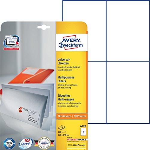 Avery-Zweckform  Laser & Ink Jet Labels 105 x 148mm