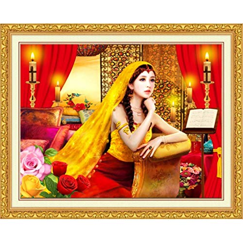 MYLOOO 5D DIY Diamant Malerei Cartoon Braut Heiraten Muster Diamant Kreuzstich Set Diamant Mosaik Ölgemälde Wandaufkleber 50X40 cm -
