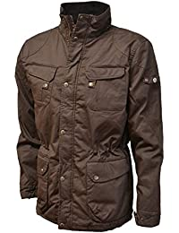 VEDONEIRE Mens Padded Wax Jacket (3051 BROWN) gift winter warm coat