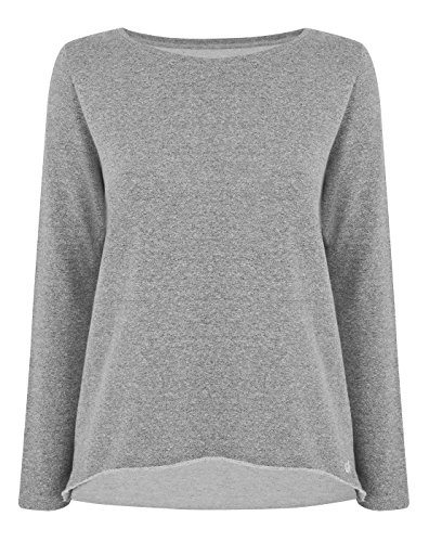 Manuka Life da donna Nirvana Sweat top, donna, Nirvana, Light Grey Melange, L