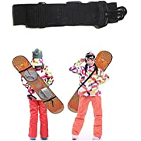 Correa ajustable porta-monopatín, Snowboard - Cinturón de plástico + nailon