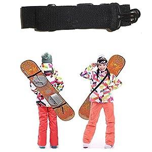Vinciann Gurt-Skateboard Snowboard verstellbar Gürtel Schulterriemen Kunststoff + Nylon