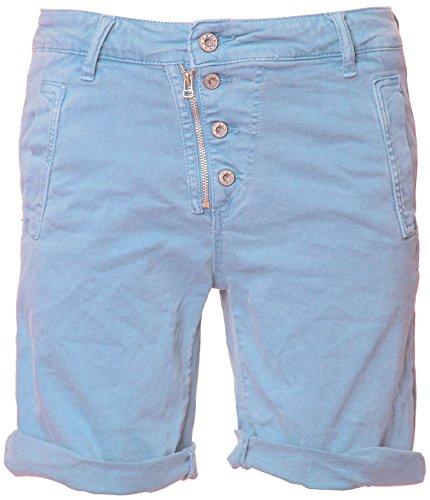 Basic.de Bermuda-Shorts 4-Knopf mit Reißverschluss Hellblau S