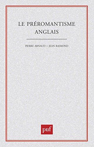 Le Préromantisme anglais par P Arnaud