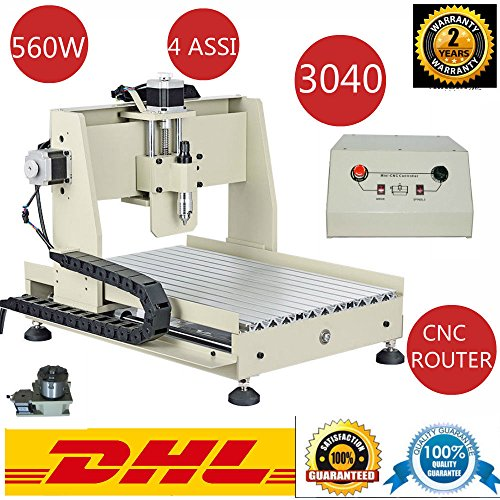 3040t 560W VFD CNC Router graviermaschine 3d grabado Fresadora eléctrica 4eje