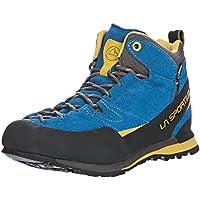 La Sportiva Boulder X Mid GTX - Calzado - gris/azul 2017, Blue/Yellow, 43
