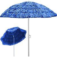 Sombrilla de playa Ø 160 cm Hawaii color azul con función de inclinación - altura: 180 cm