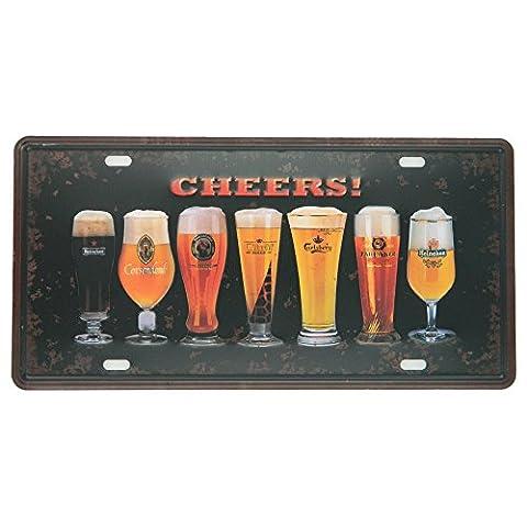 ipekoo Whisky Jack Daniels Plaque en métal pub bar Vintage Sign Plaque en métal rétro en étain–30,5x 15,2cm, C