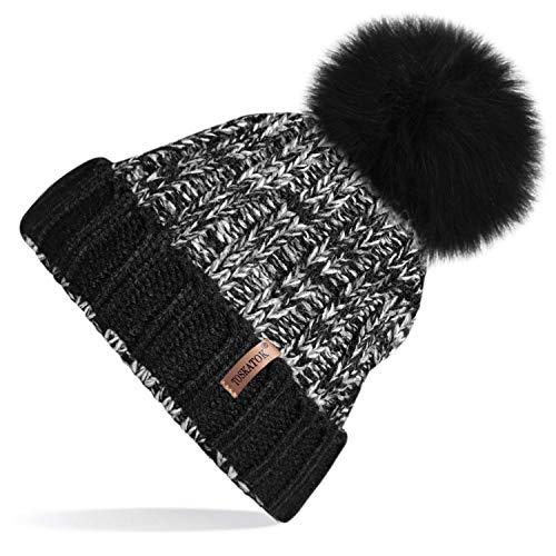 04e8386c537 TOSKATOK® Hat Tricks by PARIELLA TM Womens Winter Rib Knitted Hat Beanie  with Detachable