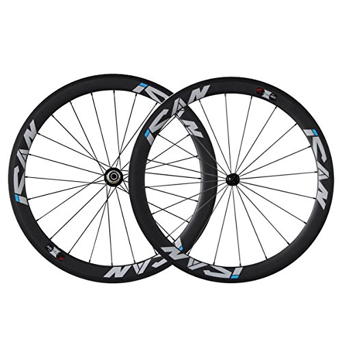 ICAN Carbon Road Wheels 50mm 20 / 24 Cover Shimano 10 / 11 V gaten