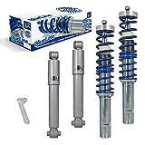 JOM 741022 - Kit suspension combiné fileté BlueLine - Amortisseurs filetés / Série de barres de torsion Qualité allemande