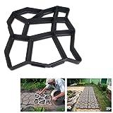 Hengda® 5x Betonform Pflasterform Schalungsform Gießform Plastikformen für Beton Garten Gehwegen Trittsteinen DIY Natursteinpflaster Pflastersteine Terrassenplatten