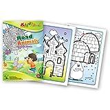 QuackDuck Malbuch Road Animals - Straßen Tiere - Colorful mazes - Labyrinth auf buntem Hintergrund - Malblock für Kinder ab 4 Jahre - mit buntem Sammelumschlag zum Einstecken