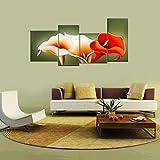 YESURPRISE Impresión En Lienzo Nuevo Para Pared Decoración Para Hogar Sala Cocina Dormitorio Flores Coloridas Aro De Etiopía (sin marco o bastidor)