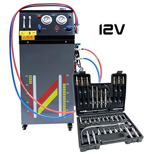 Professional Automatikgetriebe Ölwechsel   ATF Ölwechselmaschine   Getriebeöl Spülung   12V  inkl. Koffer mit Adaptern
