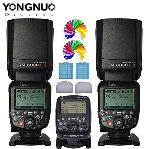 Yongnuo YN600EX-RT II Funkauslöser Blitzgerät Blitz Speedlite 2Pcs + YN-E3-RT TTL Blitzgeräte Transceiver Receiver für Canon Eos Digital SLR Kemeras