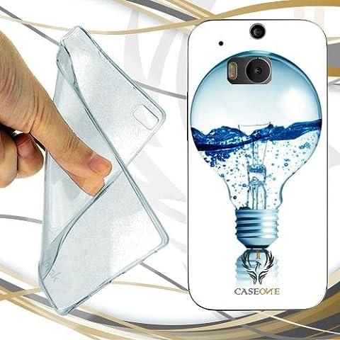 CUSTODIA COVER CASE LAMPADINA CON ACQUA PER HTC ONE M8 GOOGLE EDITION