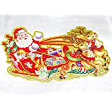 New Lilone Set Of 5 Christmas Poster Home Decoration (Glitter Border) - Hanging (16 X 7)