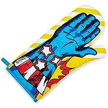 NPW - Guante de cocina de superhéroe, de tela azul