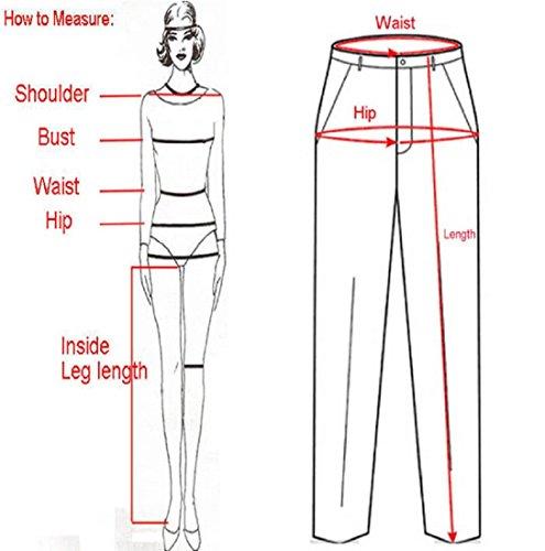 Pantalon de sport Ularmo Femmes taille haute Fitness Yoga Sport Pantalon Imprimé extensible recadrée Noir