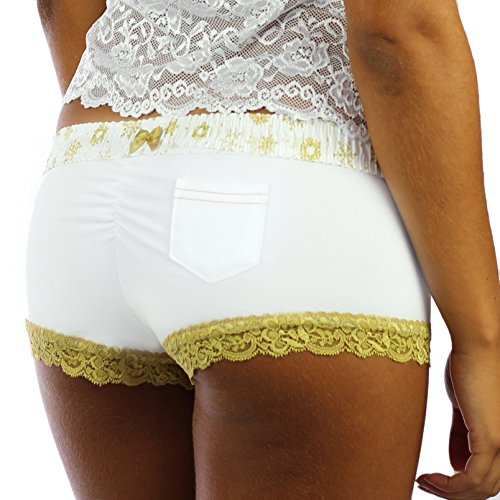 FOXERS -  Culotte  - Donna White/Frozen Gold