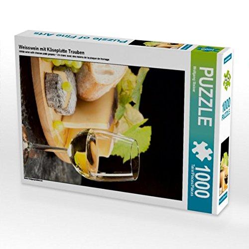 Weisswein mit Käseplatte Trauben 1000 Teile Puzzle hoch (CALVENDO Lifestyle)