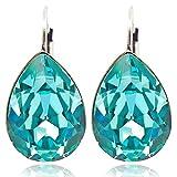 Ohrringe mit Kristallen von Swarovski® Türkis Silber - NOBEL SCHMUCK