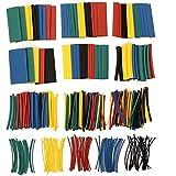 Rishil World 410pcs 2:1 Polyolefin Halogen-Free Heat Shrink Tube Sleeving 5 Color 10 Size