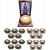 TYYC New Year Gifts Items Blissful Lord Bhagwan Shiv Votive Tealight Candle Holders Set Of 21 | New Year Tea Lights T-lights Candles Diyas Lights For Home Decoration Items Home Decor | God Idols For Puja Room
