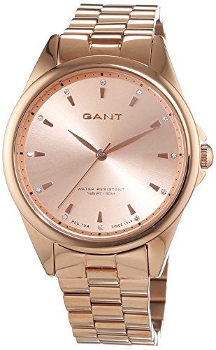 Gant - W70562 - Montre Femme - Quartz Analogique - Bracelet Acier Inoxydable Or et Rose
