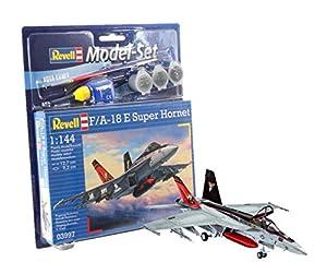 Revell - Maqueta Modelo Set F/A-18E Super Hornet, Escala 1:144 (63997)