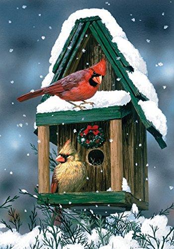 Toland Home Garden 110558 Kardinäle im Schnee Garden Flag, Bunt