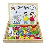 Best Créativité pour les enfants de 1 an Livres - Tribe Puzzles en Bois Magnétique Jouets Nombre Mathématiques Review