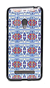 ECellStreet Exclusive Graphics Printed Soft Back Case Cover Back Cover Asus Zenfone 5 A501 CG -Blue Design