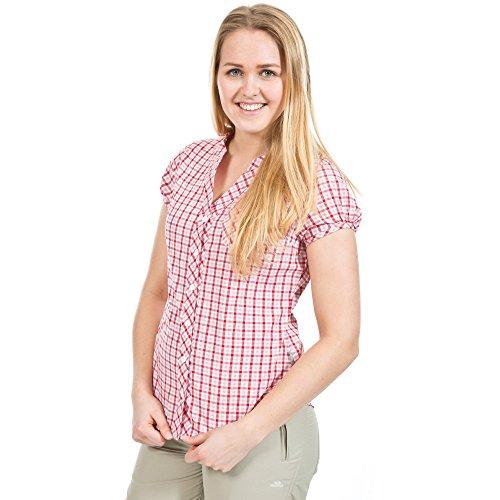 trespass-womens-ladies-esky-short-sleeve-button-up-checked-shirt