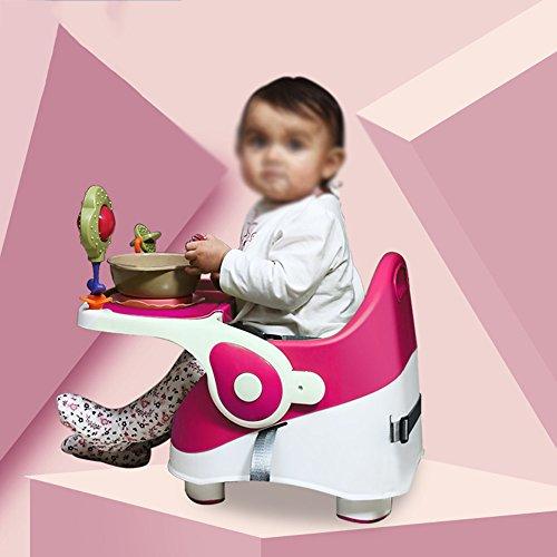 Brisk-- Essstuhl Für Babys Multifunktion Tragbar Babystuhl Kindersitz Esstisch Und Stuhl Sitze Kinderstuhl ( Farbe : Pink )