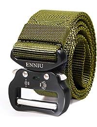 acaa4af6e5c306 AIZESI Tactical Gürtel Military Nylon Gürtel Belt mit  Schnellverschluss,Militär Nylon Gurtband Gürtel Herren mit