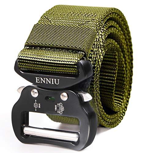 AIZESI Tactical Belt Damen Gürtel für Kleid Verstellbare Nylon Gürtel mit Aluminium Legierung Schnalle,Military schwere Quick Release Buckle Gürtel -