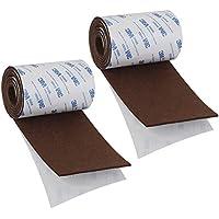 Shintop fieltro cinta DIY adhesivo tira rollo corte en cualquier forma de fieltro resistente para proteger su madera y suelos laminados (marrón)