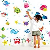 #5: Decals Design 'Underwater Creatures Baby' Wall Sticker (PVC Vinyl, 50 cm x 70 cm)