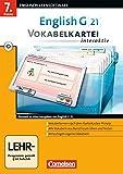 Book - English G 21 - Lernsoftware - Vokabelkarteien interaktiv - zu allen Ausgaben: English G 21 Band 3. 7. Klasse Vokabelkartei interaktiv zu allen Ausgaben