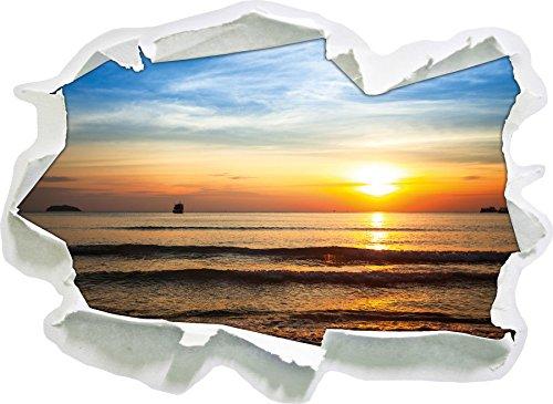 carta vetrata Malibu Beach Alba Acqua 3D della parete di