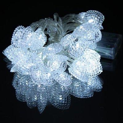 Lychee 4m 13ft 40 LED impermeabile batteria a forma di cuore Operated luci leggiadramente della stringa per Outdoor Wedding dell'interno Garden Home decorazione della festa di Natale (bianca) - Got Erba