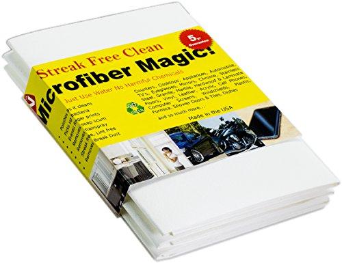 Microfiber magic panno magico in microfibra universale per tutte le superfici anti aloni ecologico pulisce senza detergenti – perfetto per vetri, schermo tv, piastrelle, specchi, auto, bagno (3 pezzi)