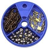 #9: Eagle Claw 05010H-001 75Pc Tool Asst Hook/Swivel/Sinker Asst