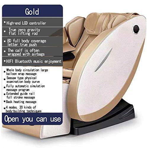 8D einstellbar elektrisch massagesessel Nacken- und Schulter Soothing Fuß Wärmebehandlungen Massagegerät -Deluxe,Gold
