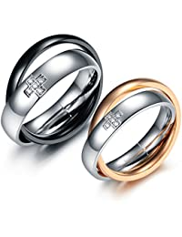 19 Likes Love Engagement Multicolour Metal Alloy Finger Rings For Couples For