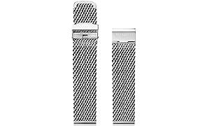 Blenheim London® Classique en maille 22mm en acier inoxydable montre Argent Sangle